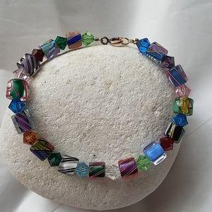 True Vintage Italian carnival glass bracelet